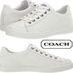 New Coach Porter White Leather Sneakers 9.5